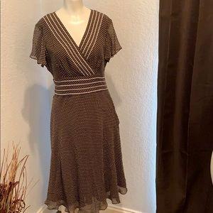 Papell Petites 💯 silk cap sleeve dress